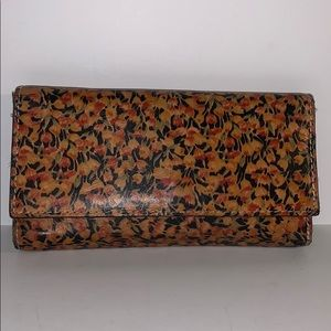 Patricia Nash floral print Leather trifold wallet